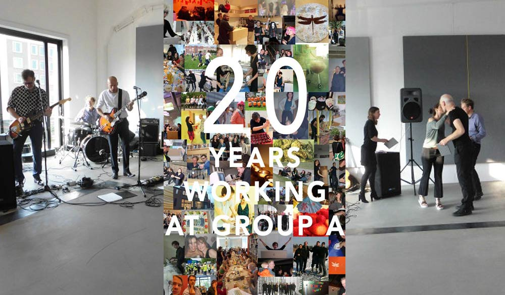 group a celebrates its 20th birthday group a